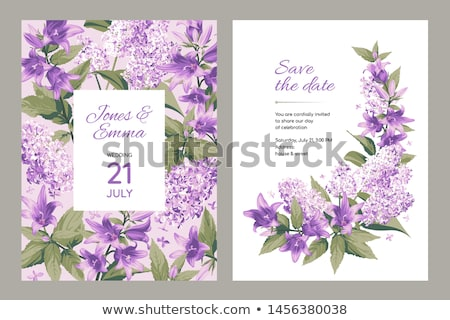 Spring card with lilac flowers frame Stock photo © Kotenko