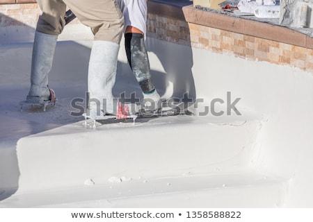 molhado · gesso · parede · textura · casa · pedra - foto stock © feverpitch