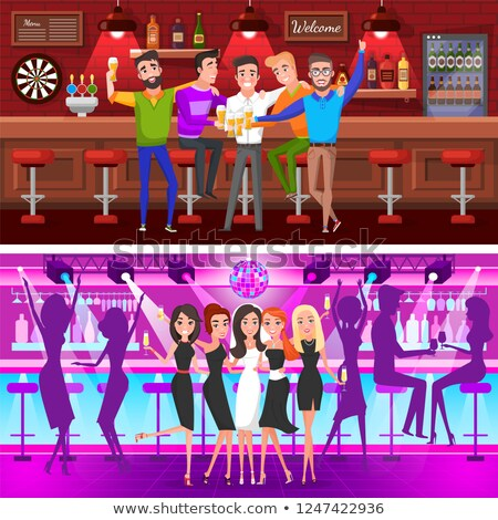 Set of Bachelor Party Fiance and Groom Vector Stock photo © robuart