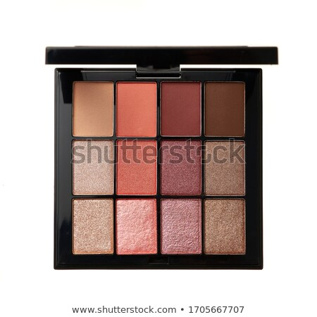 Eyeshadow palette on a white background - Browns Stock photo © Zerbor