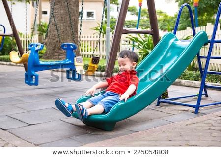 детей играет слайдов школы иллюстрация Сток-фото © colematt