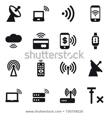 Stok fotoğraf: vector set of wireless router