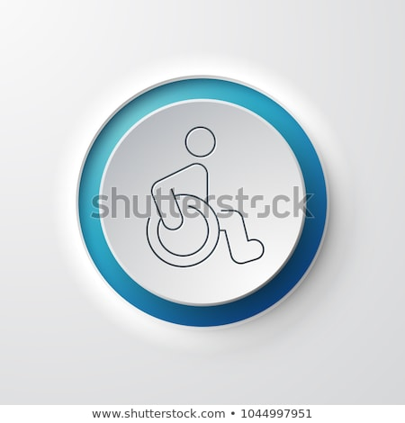 инвалидов круга икона долго тень медицина Сток-фото © Anna_leni