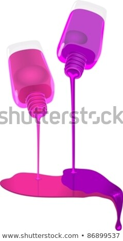 Vial Of Purple Nail Polish Female Cosmetic Vector Stock photo © pikepicture