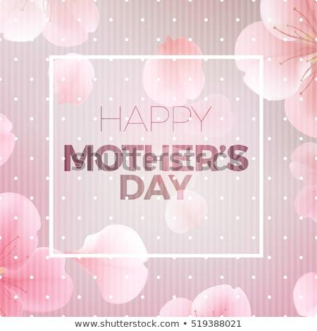 Decoração feliz dia das mães mulher menina mulheres Foto stock © SArts