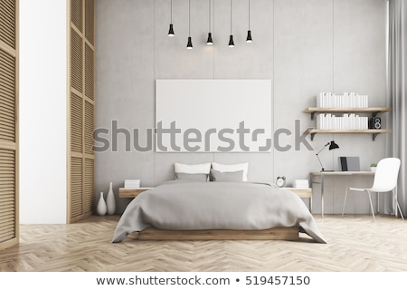 Big Mock up poster in a bright room Stock photo © andreasberheide