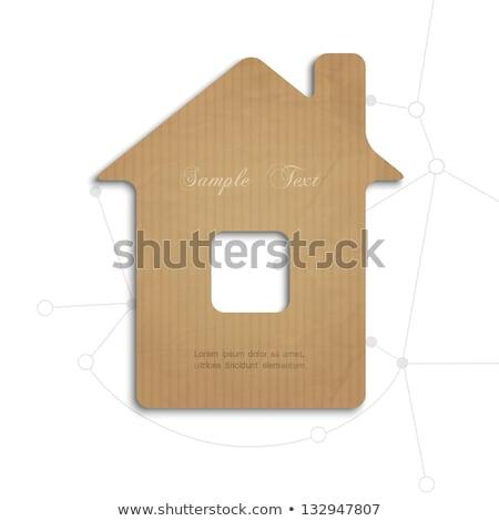 Stockfoto: Huis · model · verkoop · tag