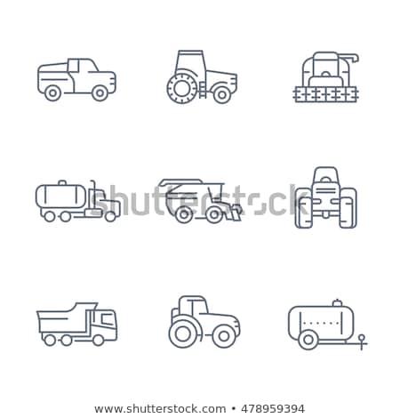 Trator veículo vetor fino linha Foto stock © pikepicture