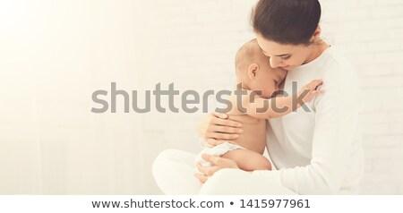 Gyengéd portré imádnivaló baba kislány visel Stock fotó © dashapetrenko