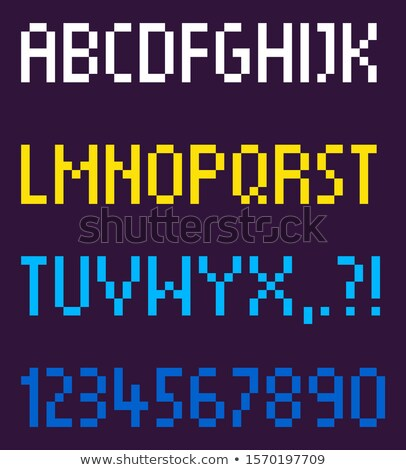 Pixel betűtípus alfabetikus rendelés számok vektor Stock fotó © robuart