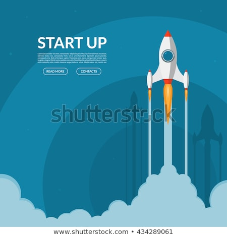 Launching Rocket, Startup of Company Silhouette Stock photo © robuart