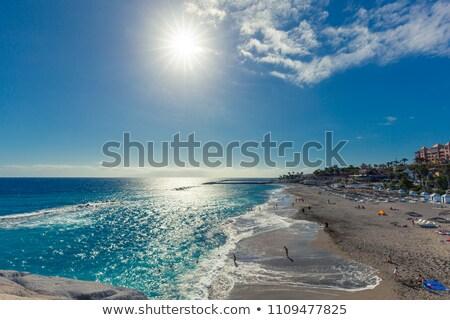 tenerife · İspanya · panoramik · görmek · plaj · dağ - stok fotoğraf © magraphics