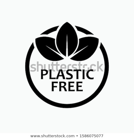 Plastic free product icon - eco seal for non toxic pack with lea Stock photo © Winner