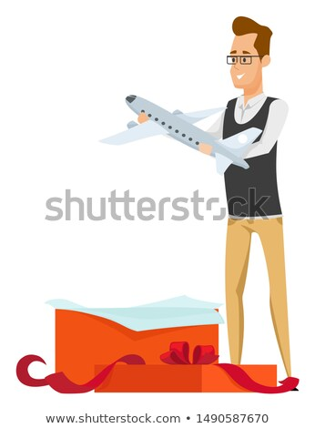 Collecting Hobby, Plane Present, Airplane Vector Stock photo © robuart