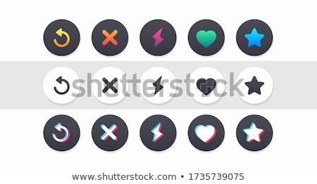 coração · logotipo · conjunto · vetor · ícone · forma · de · coração - foto stock © pikepicture
