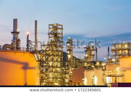 fuming industrial plant at sunset Stock photo © ShustrikS