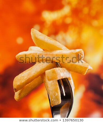 картофель фри вилка огня Сток-фото © lightkeeper