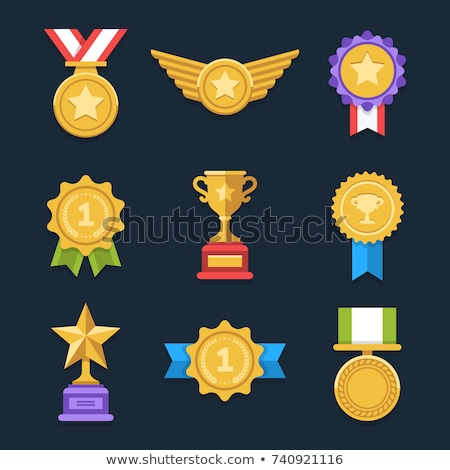 Winner award flat color illustration Stock photo © barsrsind