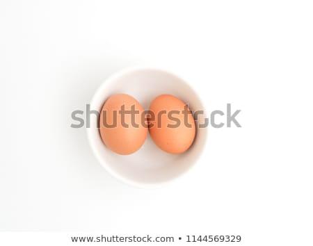 Huevo proteína yema de huevo aislado blanco huevo frito Foto stock © Margolana