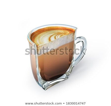 Caffè metà creativo ancora vita foto espresso Foto d'archivio © Fisher