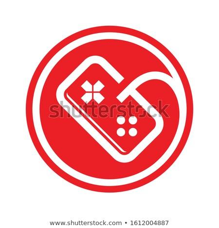 Alfabet spel troosten bedieningshendel icon logo Stockfoto © vector1st