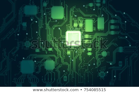 未来的な 緑 のCPU  プロセッサ 学習 ストックフォト © solarseven