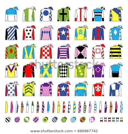 Lóverseny fogadás hazárdjáték ikon vektor vékony Stock fotó © pikepicture