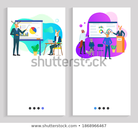 Speaker on Meeting, Hipster Animal on Presentation Stock photo © robuart