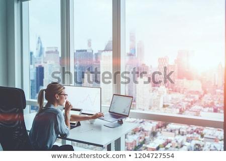 Kadın değiştirme şirket adam finansal büyüme Stok fotoğraf © robuart