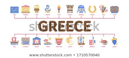 Grecia país historia mínimo infografía banner Foto stock © pikepicture