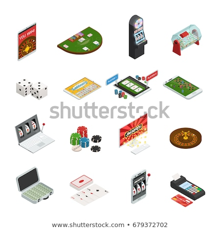 Lottery Gambling Game Isometric Icons Set Vector Stock photo © pikepicture