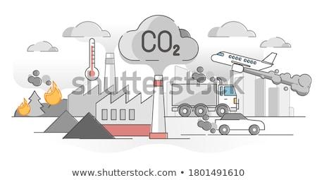 üvegház hatás absztrakt globális felmelegedés klímaváltozás ok Stock fotó © RAStudio