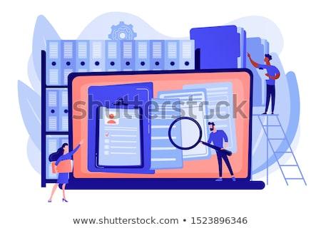 Lemezek vezetőség szervezett archívum keres akták Stock fotó © RAStudio