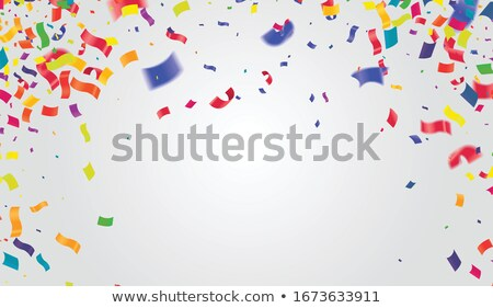colorful papers with a curl stock photo © orson