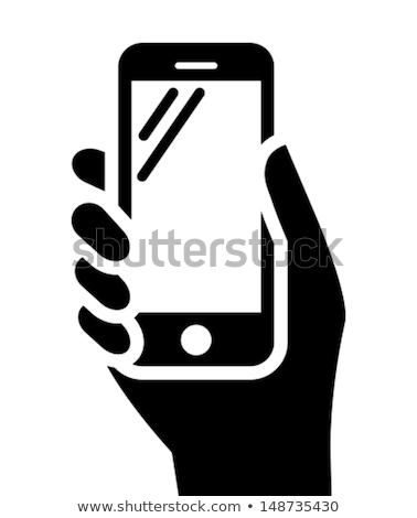 communication · ordinateur · téléphone · portable · icônes · vecteur - photo stock © stoyanh