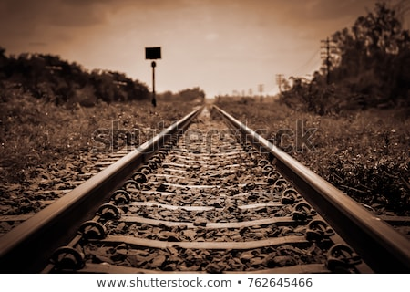 öreg vasúti sinek közelkép elágazás napos idő fém Stock fotó © Frankljr