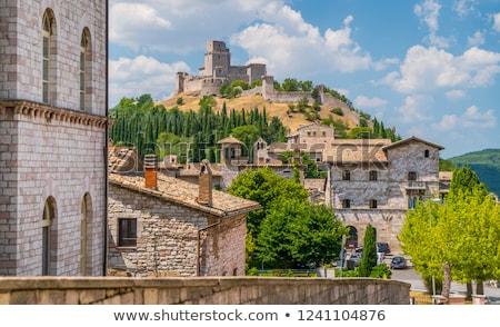 Medieval castle of Assisi (Rocca Maggiore) Stock photo © aladin66