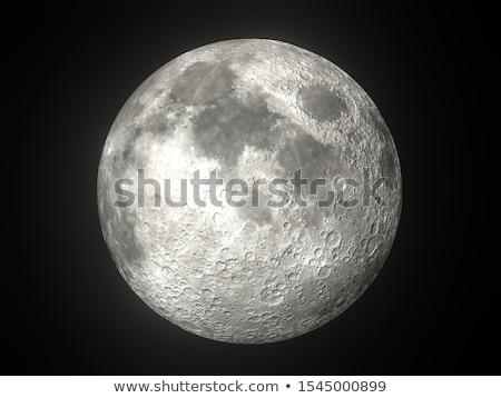 Zwarte maan geïsoleerd witte hemel Stockfoto © cidepix