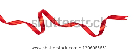 Red ribbon on white background Stock photo © nuttakit