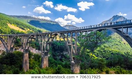Híd beton ív folyó északi Montenegró Stock fotó © joyr