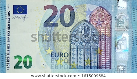 Euro papel projeto de lei pormenor macro Foto stock © adamr