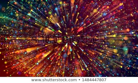 multicolored optical fibers background stock photo © deyangeorgiev