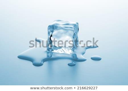 Olvad jégkockák jég tégla tükör hideg Stock fotó © JanPietruszka