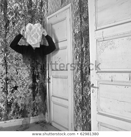 invisible man in abandoned interior Stock photo © sirylok