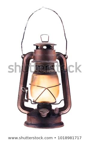 ősi lámpás fém park citromsárga napos Stock fotó © mitay20