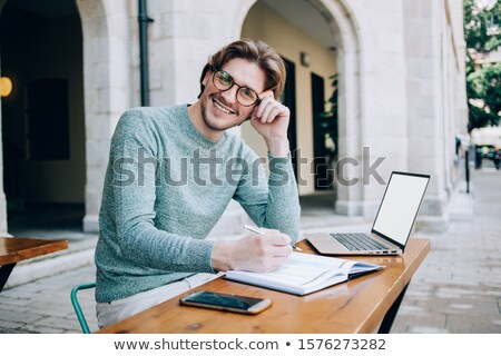 Happy entrepreneur with notepad Stock photo © photography33