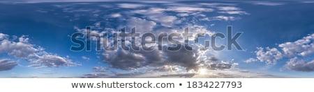 Panorama nubi panoramica shot soffice bianco Foto d'archivio © pixelsnap