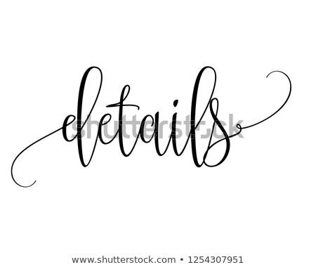 caligrafia · livro · fundo · retro · nosso - foto stock © prill