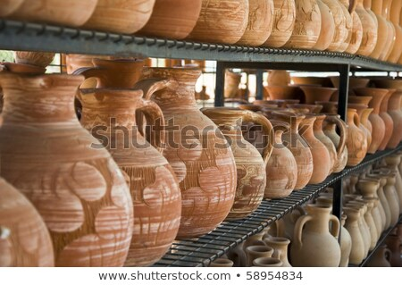 Stock photo: Cyprus ceramic jug