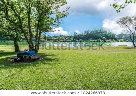 lakeside scenery at the Azores Stock photo © prill